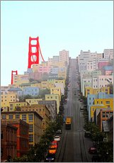 Gallery print  San Francisco and Golden Gate Bridgee - John Morris