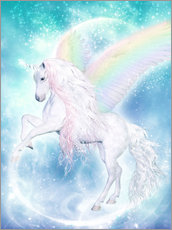 Gallery print  Rainbow Unicorn Pegasus - Dolphins DreamDesign