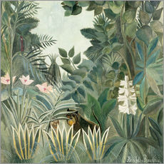 Gallery print  Equatorial jungle - Henri Rousseau