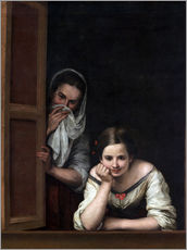 Wall sticker  Women from Galicia at the window - Bartolome Esteban Murillo