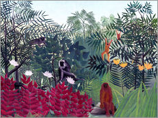 Wall sticker  Tropical forest with monkeys - Henri Rousseau