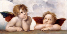 Aluminium print  Two Angels, detail - Raffael