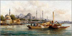 Gallery print  Merchant vessels in front of Hagia Sophia, Istanbul - Anton Schoth