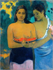 Aluminium print  Two women of Tahiti - Paul Gauguin