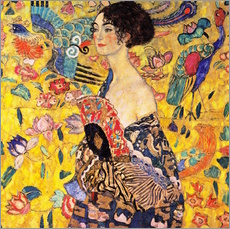 Wall sticker  Lady with a fan - Gustav Klimt