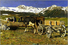 Wall sticker  At the watering place - Giovanni Segantini