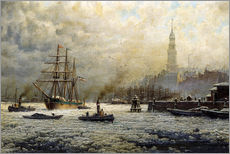 Gallery print  The Port of Hamburg, 1893 - Georg Schmitz