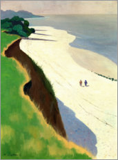 Foam board print  The Cliff and the White Shore - Felix Edouard Vallotton