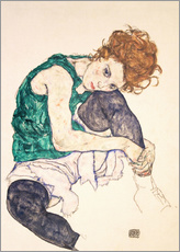 Gallery print  Seated woman with bent knee - Egon Schiele