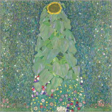 Premium poster  The Sunflower - Gustav Klimt