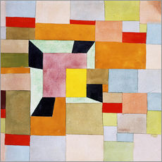 Wall sticker  Split color squares - Paul Klee