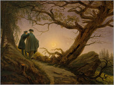 Wall sticker  Two men contemplating the moon - Caspar David Friedrich