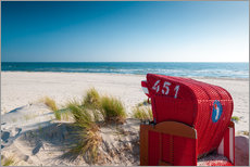Wall sticker  Red beach chair with a view - Reiner Würz