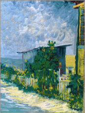Foam board print  Shelter on Montmartre - Vincent van Gogh
