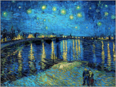 Foam board print  Starry Night Over the Rhone - Vincent van Gogh