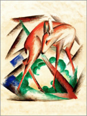 Canvas print  Deer (Red Deer) - Franz Marc