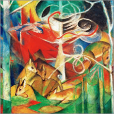 Gallery print  Deer in the woods I - Franz Marc
