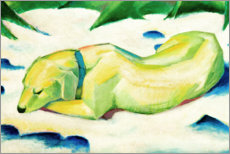 Acrylic print  Dog lying in the snow - Franz Marc