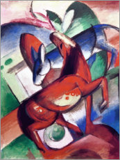 Premium poster  Horse and donkey - Franz Marc