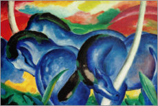 Gallery print  Large blue horses - Franz Marc