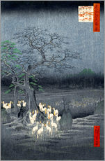 Gallery print  Foxes meeting at Oji - Utagawa Hiroshige
