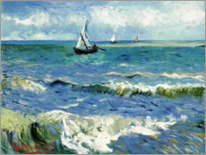 Canvas print  The sea at Saintes-Maries-de-la-Mer - Vincent van Gogh
