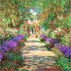 Gallery print  A Pathway in Monet's Garden - Claude Monet