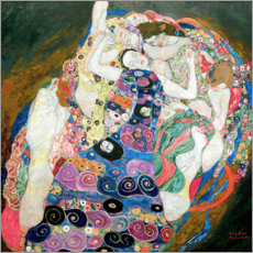 Foam board print  The Virgin - Gustav Klimt