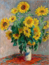 Gallery print  Sunflower bouquet - Claude Monet