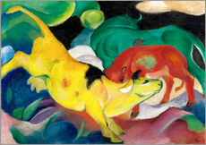 Wall sticker  Cows - yellow, red, green - Franz Marc