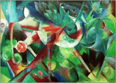 Canvas print  Deer in the flower garden - Franz Marc