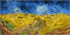 Acrylic print  Wheatfield with crows - Vincent van Gogh