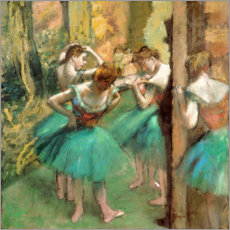 Canvas print  Dancers in Pink and Green - Edgar Degas