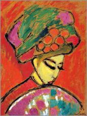 Gallery print  Young Girl in a Flowered Hat - Alexej von Jawlensky