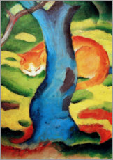 Acrylic print  Cat under a tree - Franz Marc