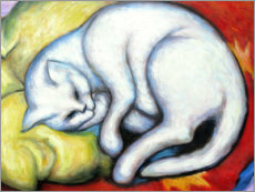 Acrylic print  The white cat - Franz Marc