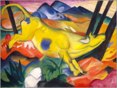 Aluminium print  The yellow cow - Franz Marc