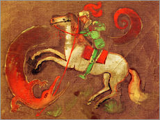 Wall sticker  Knight George and dragon - August Macke