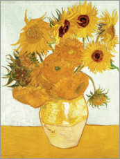 Aluminium print  Vase with Sunflowers - Vincent van Gogh