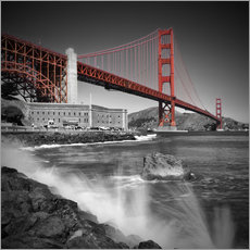 Wall sticker  Golden Gate Bridge Fort Point - Melanie Viola