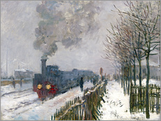Gallery print  Train in the snow (The Locomotive) - Claude Monet