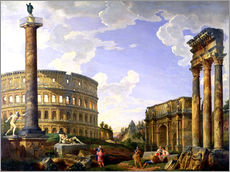 Wall sticker  Roman Capriccio Showing the Colosseum - Giovanni Paolo Pannini