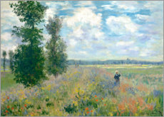 Canvas print  The Poppy field - Claude Monet