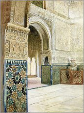 Gallery print  Interior of the Alhambra, Granada - French School