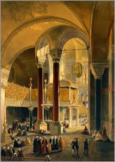 Gallery print  Haghia Sophia, Imperial Gallery and Box - Gaspard Fossati