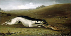 Wall sticker  Hare Coursing in a Landscape, 1870 - John Fitz Marshall