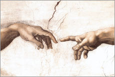 Wall sticker  The Creation of Adam (detail of hands) - Michelangelo