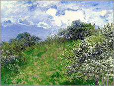 Foam board print  spring - Claude Monet