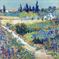 Foam board print  The Garden at Arles - Vincent van Gogh