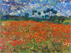 Canvas print  Field of poppies, Auvers-sur-Oise - Vincent van Gogh